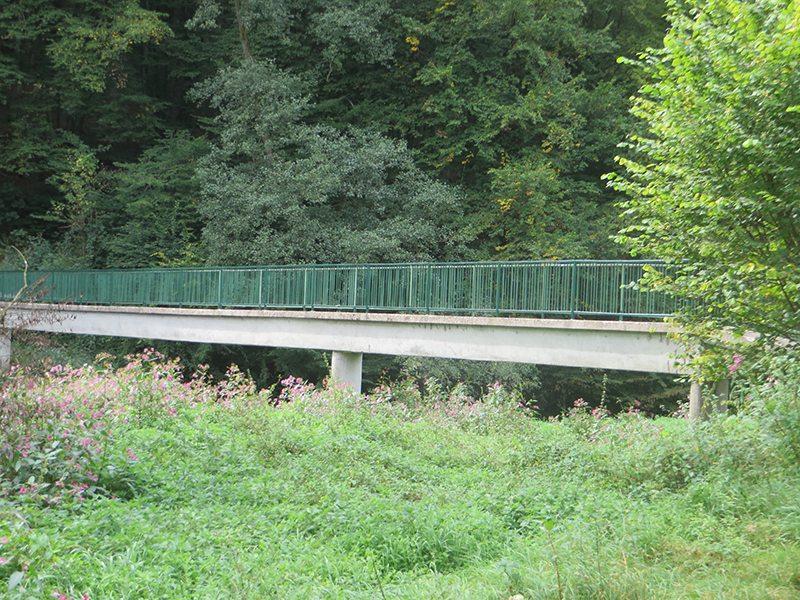 Hier steht ein Bild mit dem Ttiel: Und noch ne Brücke über die Nister (Foto: Hans-Joachim Schneider)