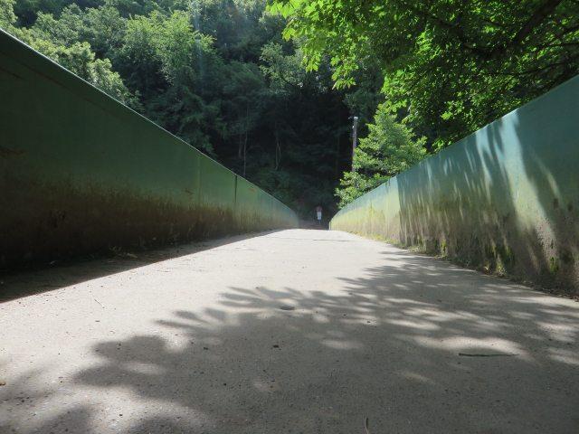 Hier steht ein Bild mit dem Text: Schließlich geht es auf der Brücke über die Ahr hinüber (Foto: Hans-Joachim Schneider)