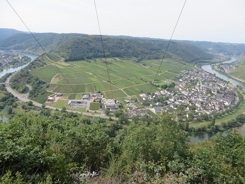 Blick, Panorama, Mosel, Stromleitungen, Weinberge, Blick ins Tal
