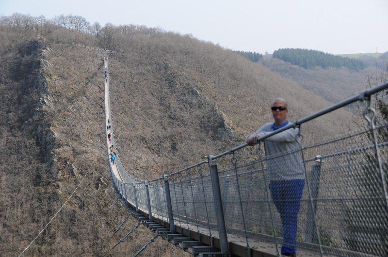 Hunsrück, Hängeseilbrücke, Geierlay, Eröffnung, Sonnenschein, Wandern, Saar-Hunsrück-Steig, Mörsdorf, Brückenschwankungen